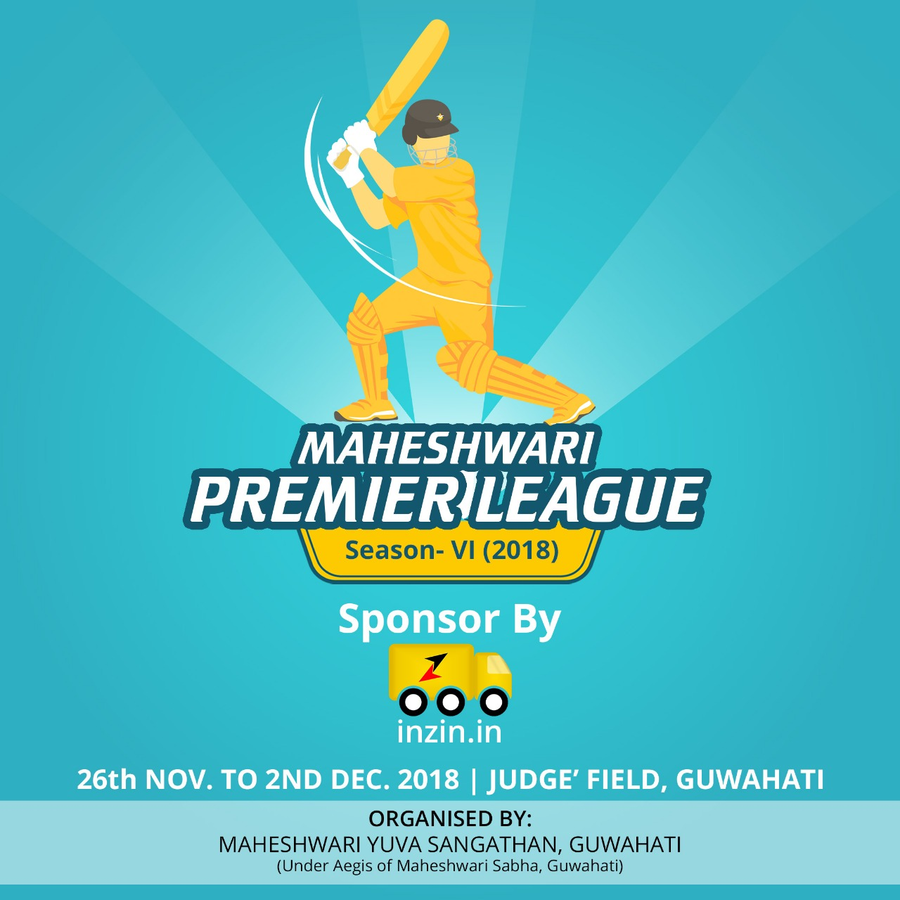 Maheshwari Premier League Sponsor by INZIN