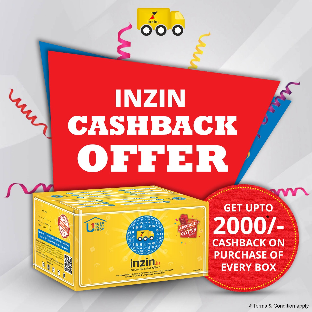 INZIN Cash Back Offfer