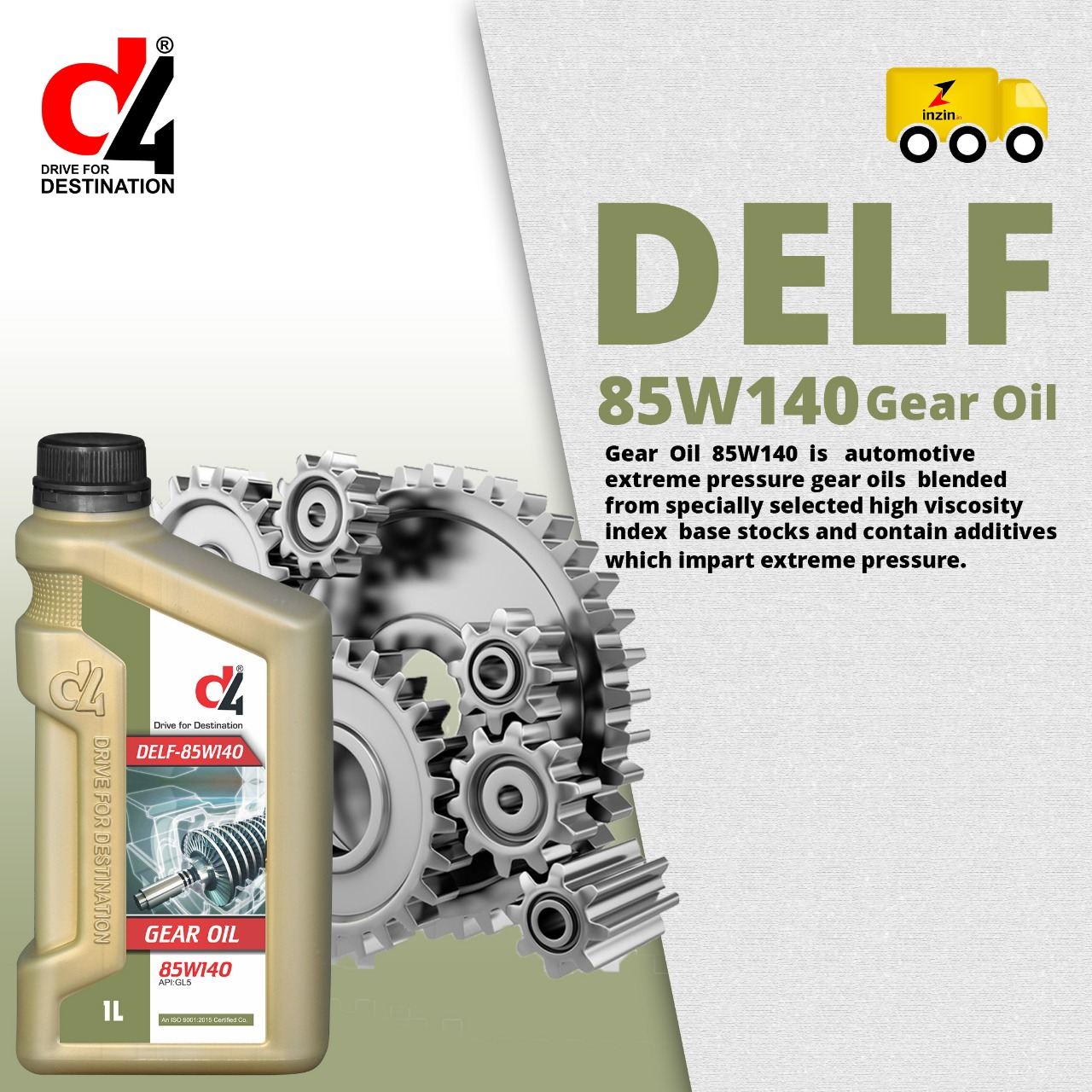 Delf 85w140 Gear oil
