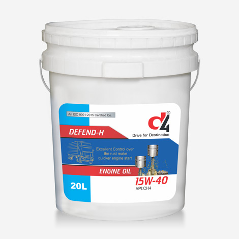 D4 Defend-H 20 Liter 15w40 Engine Oil