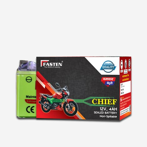 Fasten Chief 2 Wheeler Battery