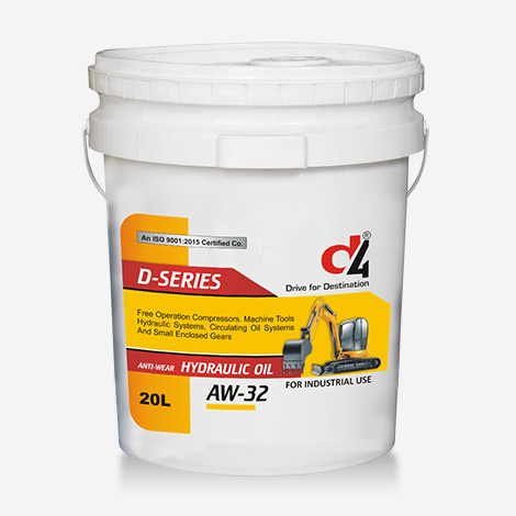 D4 DSERIES AW-32 20 Liter Hydraulic Oil