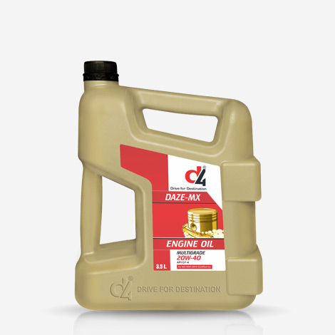 D4 3.5 Liter DAZE MX 20W40 Engine Oil
